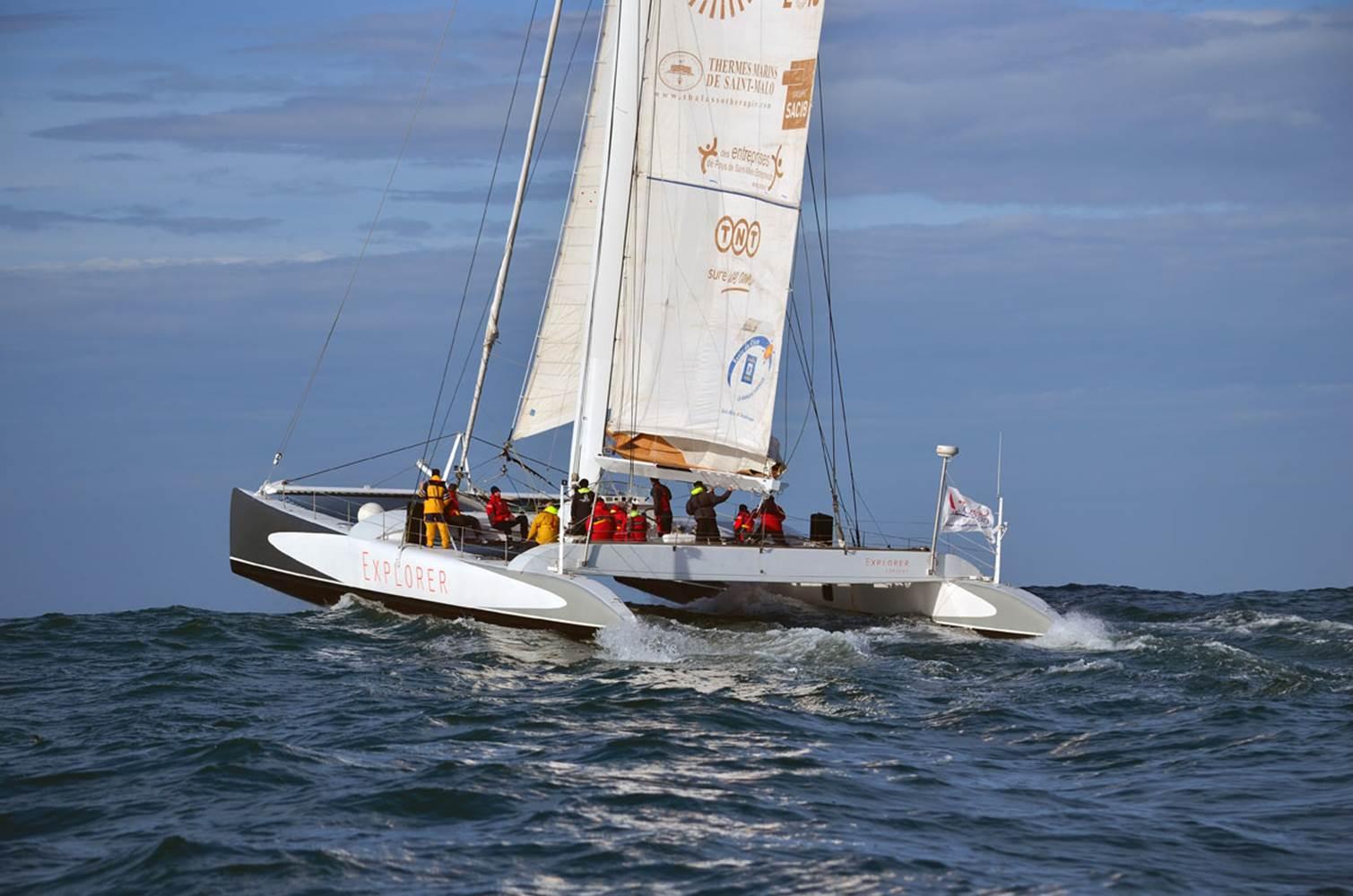 Embarquez à bord du maxi catamaran de course Explorer © CHALLENGE OCEAN
