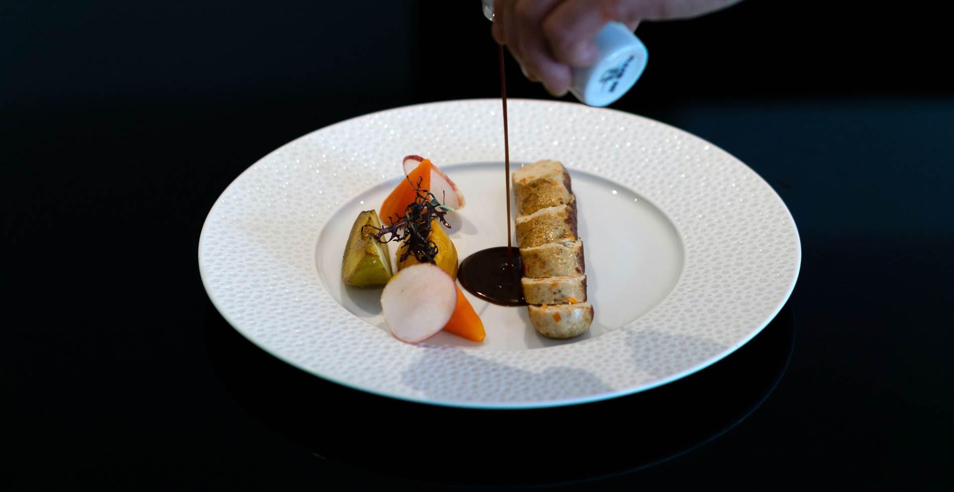Boudin blanc au Restaurant L'Eskell Le Diana Hotel et Spa Nuxe Carnac Morbihan Bretagne Sud ©