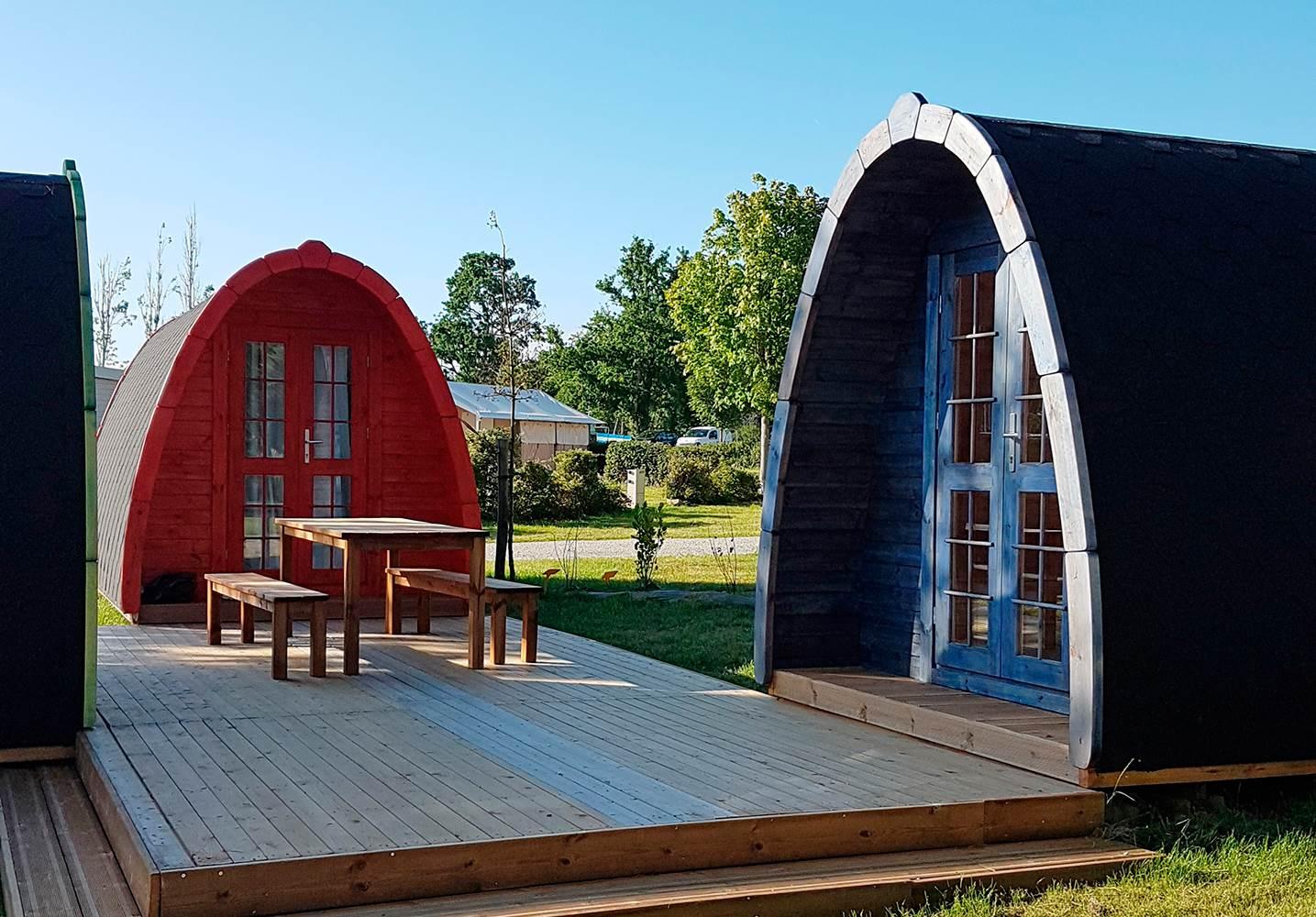 Nouveaux pods pour randonneurs au Camping ker Eden ©