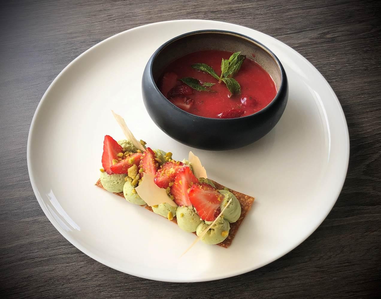 mille feuille revisite fraise pistache ©
