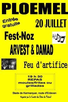 Soirée moules/frites - Fest-noz - Feu d'artifice Ploëmel