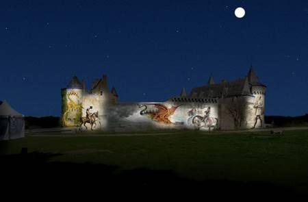 Spectacle nocturne au Domaine de Suscinio