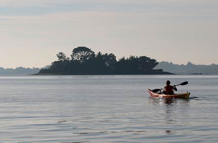 Balade nautique kayak du matin en rivière d'Auray