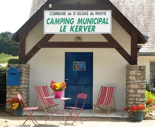 Camping-municipal-du-Kerver-Accueil-Saint-Gildas-de-Rhuys-Morbihan-Bretagne Sud © Camping Municipal du Kerver